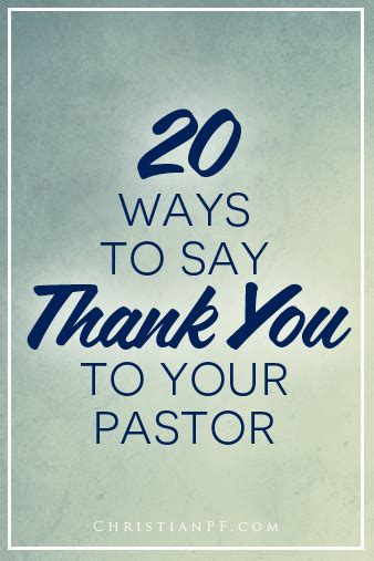 appreciation letter to youth pastor how to say thank you to a pastor 20 great ways pastor