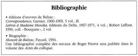 Modèle Bibliographie