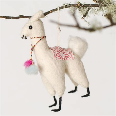 felt llama ornament trees christmas decorations and shops