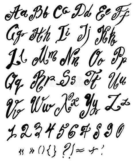 handgemachtes r 246 misches alphabet des vektors vektor abbildung illustration alphabet