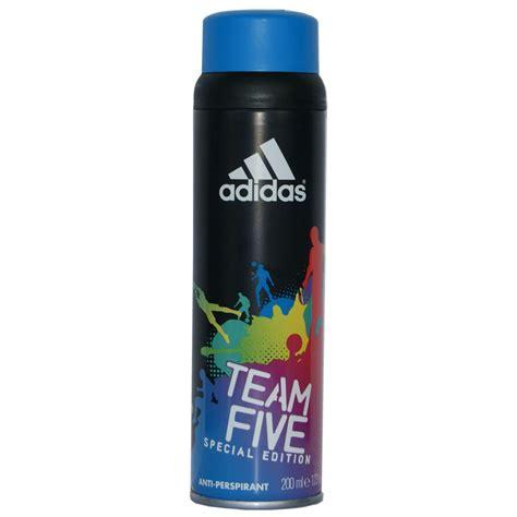Parfum Adidas Deo Spray adidas adidas team five deodorant 200ml spray adidas from base uk