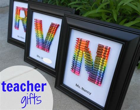 homemade teacher gift how to make a crayon monogram 25 rainbow crafts food and more