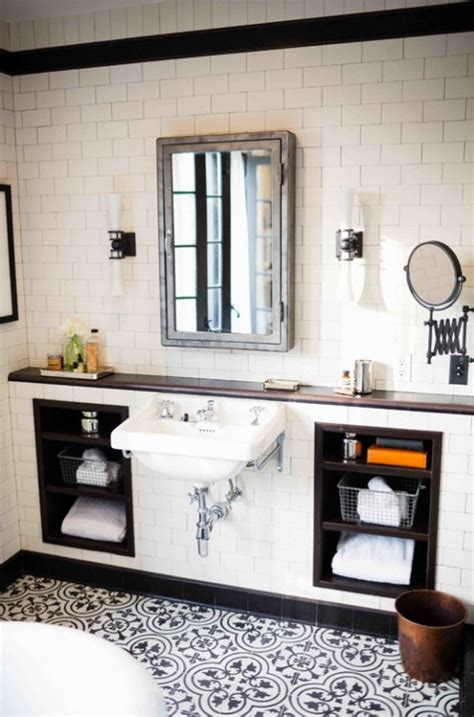 vintage black and white bathroom amazing black and white bathroom design with a retro vibe digsdigs