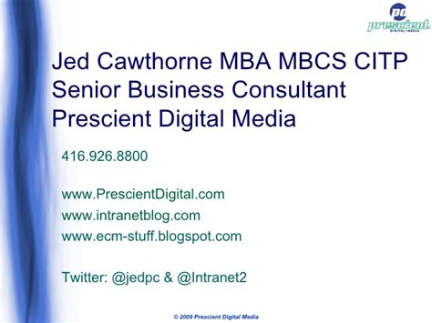 Jed Mba by What Makes A Intranet