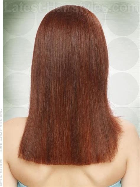 how to cut hair straight across in back hair tutorial straight across back long red style back