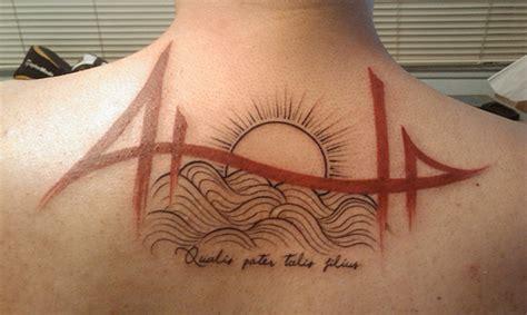 golden gate bridge tattoo designs interpretation of the golden gate bridge tattoomagz