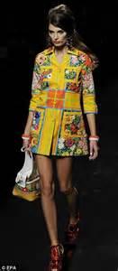 milan fashion week moschino brings the swinging 60s back