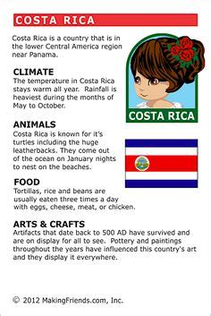 5 themes of geography costa rica costa rica coloring page geography pinterest costa