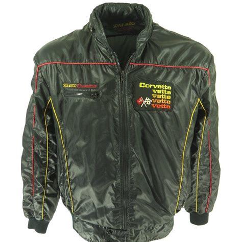 Jaket Hoodie Sweater Motor 37 vintage 80s corvette racing jacket mens xl style auto