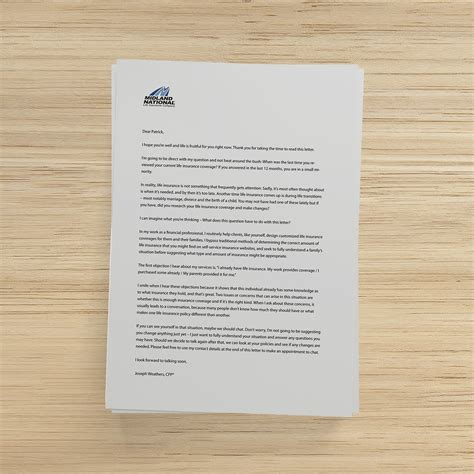Insurance Advertising Letters insurance marketing letter 2 of 4 midland national