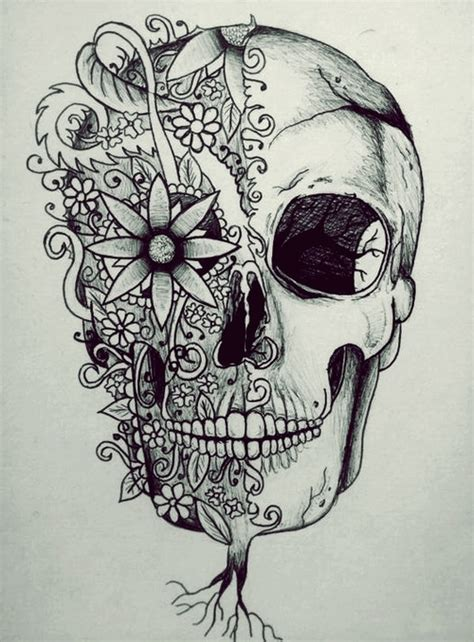 doodle skull meaning imagenes de calaberas con flores imagui