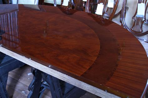 large round dining room table 84 quot high end large round mahogany dining table with 2