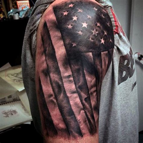 american flag sleeve tattoo designs top 60 best american flag tattoos for usa designs