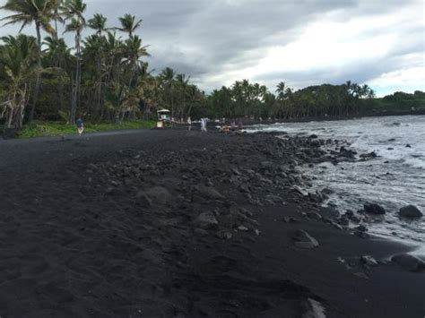 punalu u punalu u black sand beach park picture of punalu u black