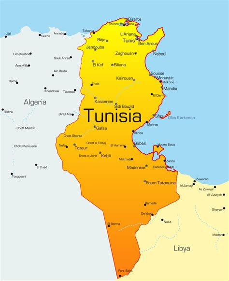 where is tunisia in the world map tunisia on map adriftskateshop