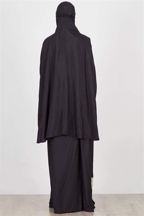 Mukena Renda Black sell jacquiline black mukena hijabenka