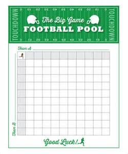 Free Football Pool Template free blank printable football pools football squares