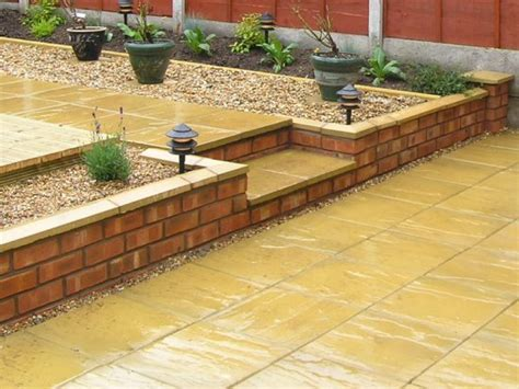 Terracing A Sloped Backyard Shropshire Garden Brick Wall 1a