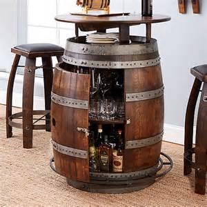 Vintage Oak Wine Barrel Bistro Table Vintage Oak Wine Barrel Bistro Table Bar Stools Whiskey Finish Wine Enthusiast