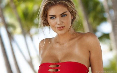 Kate upton hot in red dress wallpaper