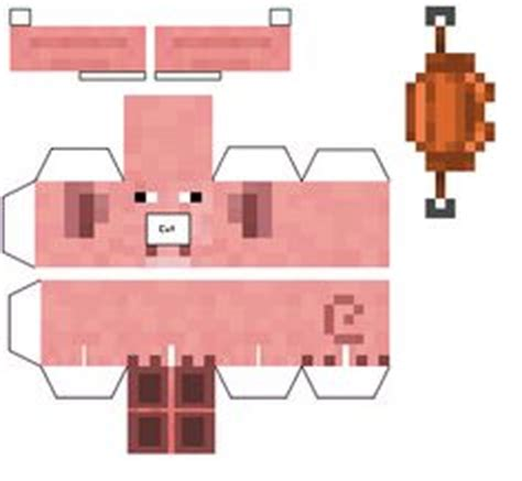 Pig Papercraft - papercraft mini saddled piggy silly minecrft