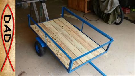 Small Camper Floor Plans by Diy Lawn Mower Trailer Garden Cart Youtube