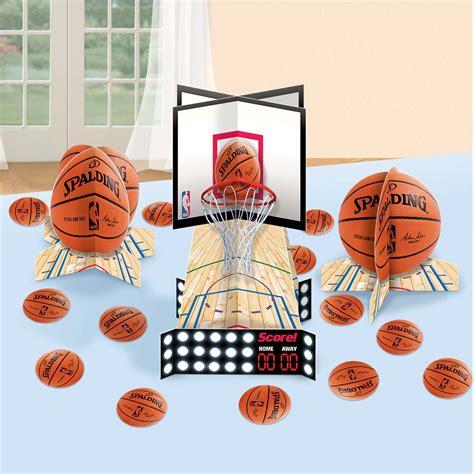 spalding basketball table spalding basketball table decor kit