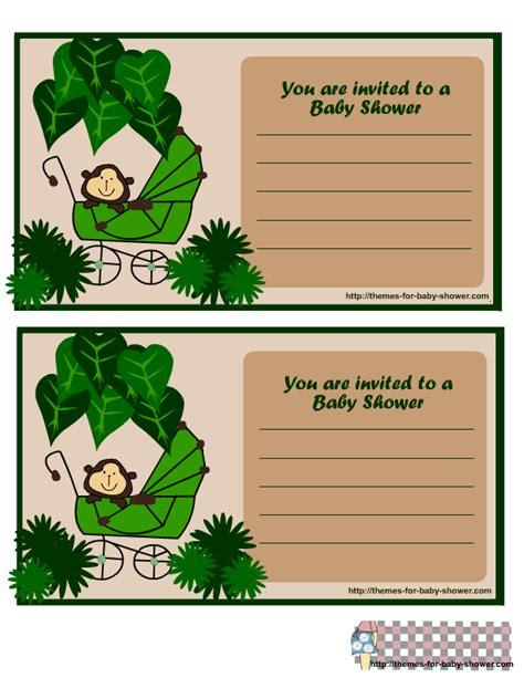 monkey themed baby shower invitations printable 5 free printable monkey baby shower invitations