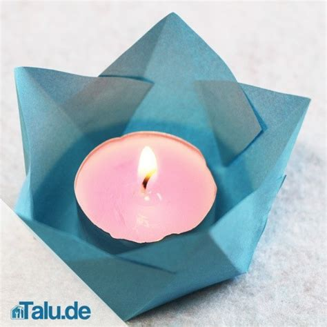 kerzenhalter papier teelichthalter aus papier basteln 4 bastelanleitungen