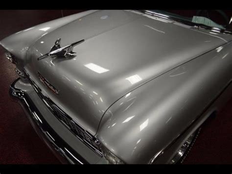 Ac 8415 Silver Black 1955 chevrolet bel air 150 210 post clean cystom black silver 350 automatic ac for sale