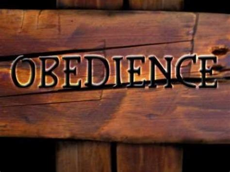 how to your to be obedient obedience to god