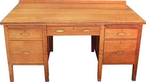 what is a desk oak pedestal writing desk