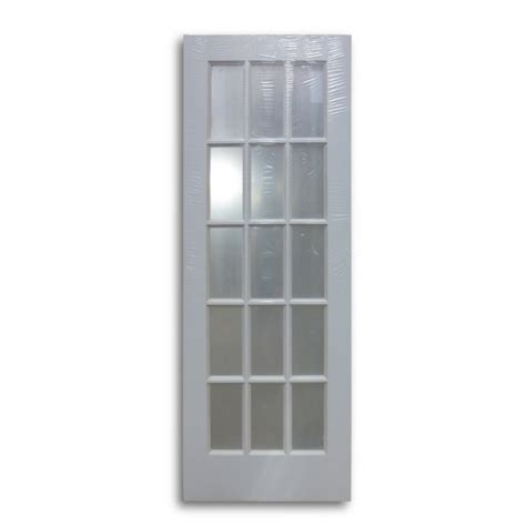 milette interior french door primed with 15 lites clear interior french door primed white 15 lite 28 quot w home