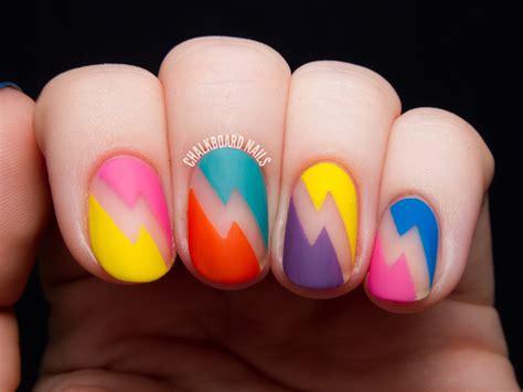 lightning nail art tutorial bold bolts deborah lippmann 80s rewind nail art