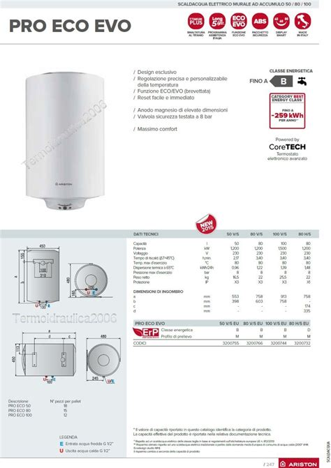 Water Heater Ariston 100 Liter electric water heaters vertical 50 liters ariston pro eco