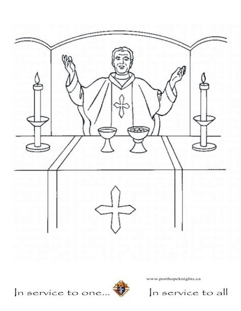 catholic priest free colouring pages
