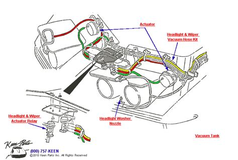 1974 corvette headlight vacuum diagram 1973 corvette headlight vacuum hose assembly parts parts