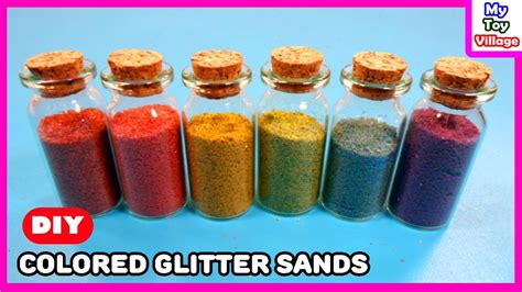 how to make colored how to make colored sand with glitter and tempera paint