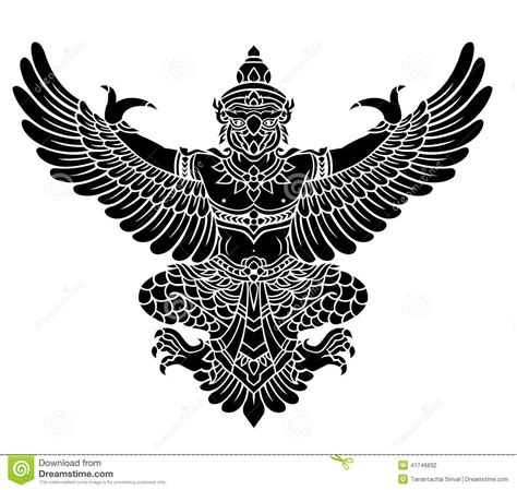 garuda vector stock vector image of image style tattoo