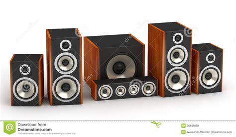 speakers set stock photo image