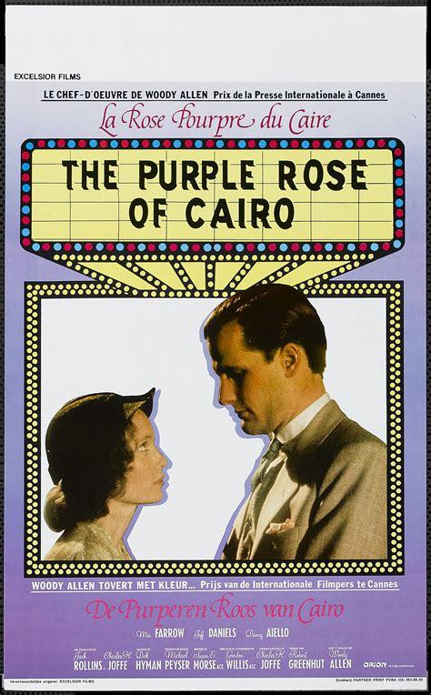 themes in the purple rose of cairo una pagina de cine 1985 the purple rose of cairo la rosa