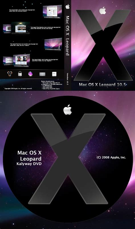 format dvd mac os x mac os x leopard dvd cover us by entouchgraphics on deviantart
