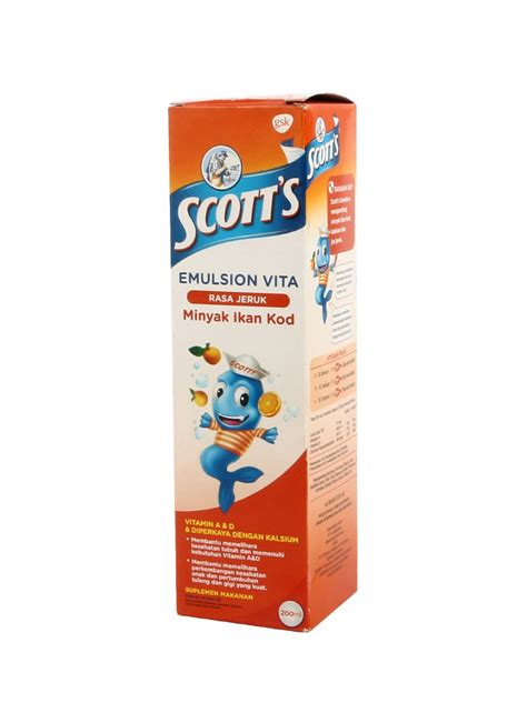 Minyak Ikan S Emulsion scotts emulsion minyak ikan vita orange btl 200ml klikindomaret