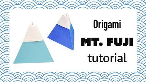 Fuji Origami 2 0 - origami mount fuji tutorial mountain diy paper kawaii