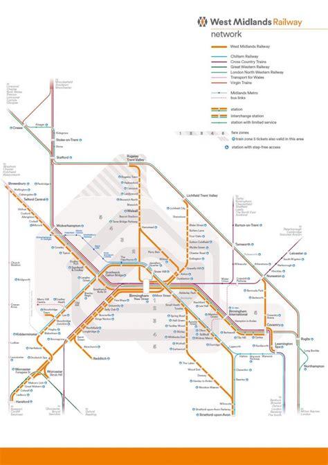 network map west midlands railway