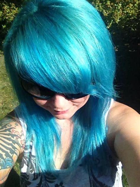 splat bleach results splat aqua rush crazy hair color pinterest aqua