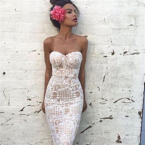 dress wedding slim summer dress white lace dress