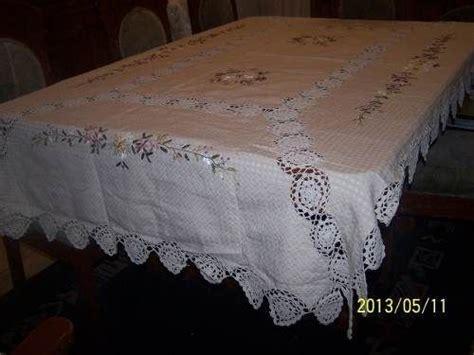 manteles tejido a crochet con tela manteles y cortinas de tela y crochet buscar con google