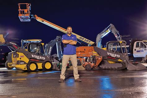 volvo rents partners  celebrity landscaper ahmed hassan   veterans compact equipment