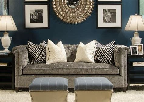 navy sofa living room navy living room with gray sofa decor home pinterest